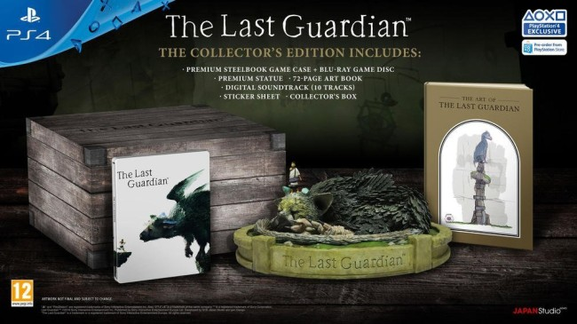 PS4 THE LAST GUARDIAN EDITION COLLECTOR