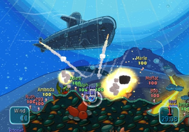 worms battle island screen1