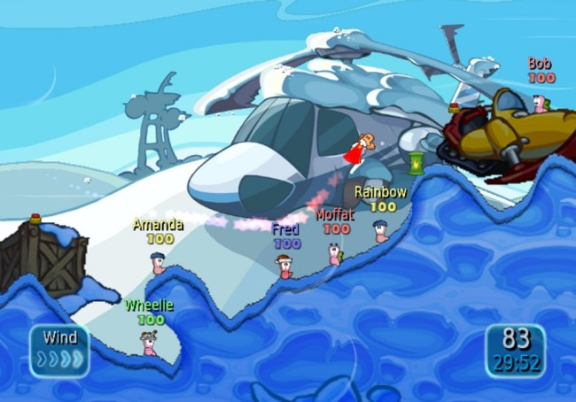 worms battle island screen2