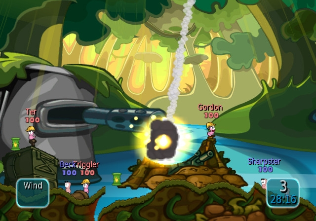 worms battle island screen3