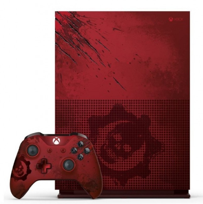 console xbox one s 2 to edition limit e gears of war 4. Black Bedroom Furniture Sets. Home Design Ideas